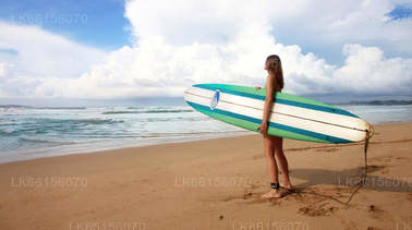 Surfing from Arugam Bay